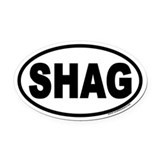 SHAG Euro Oval Car Magnet