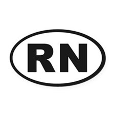 RN Oval Car Magnet