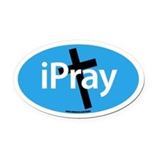 IPRAY Oval Car Magnet