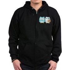 Owls Wedding Zip Hoodie