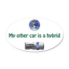 My other car is a hybrid - bumper Oval Car Magnet