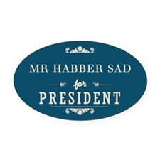 President Oval Car Magnet