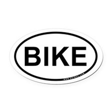 Bike Oval Car Magnet