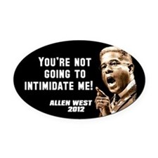 Allen West - Intimidate Oval Car Magnet