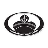 Cute Annapolis maryland Oval Car Magnet