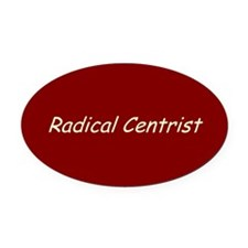Radical Centrist Oval Car Magnet