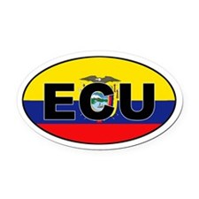 Flag of Ecuador (ECU) Oval Car Magnet