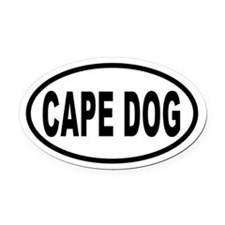 CAPE DOG Euro Oval Car Magnet
