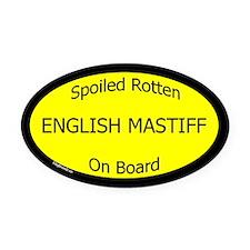 Spoiled English Mastiff On Board ticker (Oval)