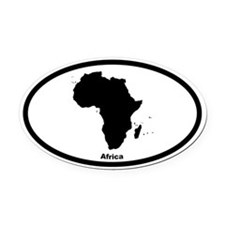 Africa Outline Oval Car Magnet