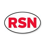RSN Oval Car Magnet