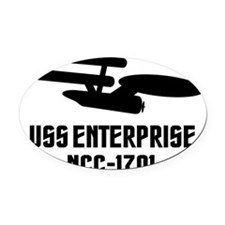 USS Enterprise Oval Car Magnet