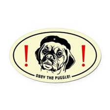 Obey the Puggle! Revolution Oval Car Magnet