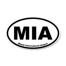 Miami International Airport Oval Car Magnet