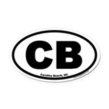 Carolina Beach, North Carolina Oval Car Magnet