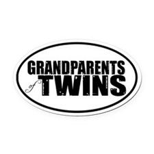 GRANDPARENTS of TWINS Oval Car Magnet