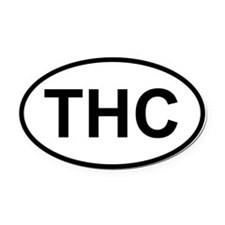Oval Car Magnet Oval - THC