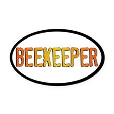 Beekeeper Stamp Oval Car Magnet