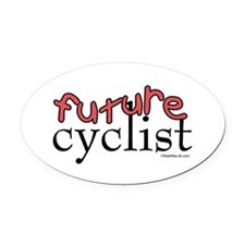 Future Cyclist Oval Car Magnet