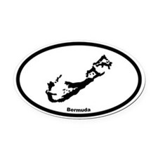 Bermuda Outline Oval Car Magnet
