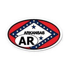 Arkansas State Flag Oval Car Magnet