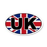 United Kingdom (UK) Flag Oval Car Magnet