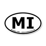 Michigan, USA Oval Euro Style Oval Car Magnet