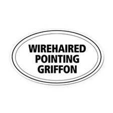Wire-haired Pointing Griffon Oval Car Magnet