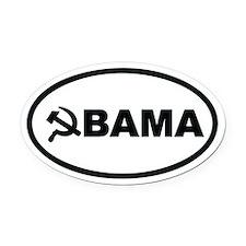 Obama Hammer & Sickle Oval Car Magnet