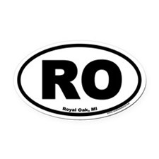 Royal Oak, Michigan RO Oval Car Magnet