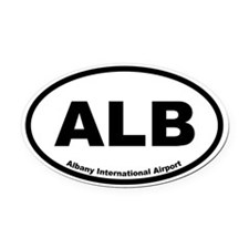 Albany International Airport Oval Car Magnet