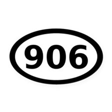 906 Oval Car Magnet