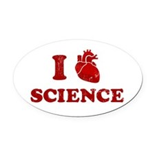 i love science Oval Car Magnet