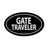 Gate Traveler Auto Oval Car Magnet -Black (Oval)
