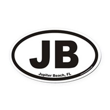 Jupiter Beach JB Euro Oval Car Magnet