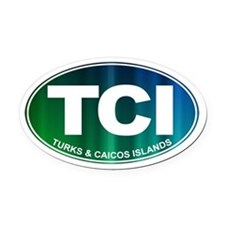 Turks and Caicos Islands - Oval Car Magnet