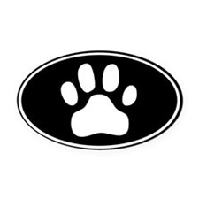 Paw Print Oval Car Magnet
