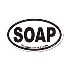 Snakes on a Plane SOAP Euro Oval Car Magnet