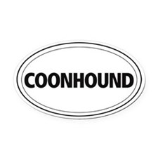 Coonhound Oval Car Magnet