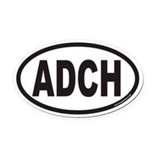 ADCH Euro Oval Car Magnet