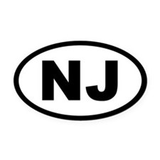 NEW JERSEY STATE Oval Car MagnetS Oval Car Magnet