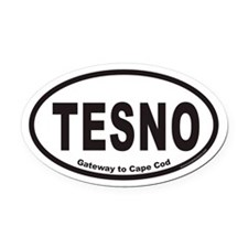 TESNO Gateway to Cape Cod Euro Oval Car Magnet