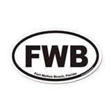 Fort Walton Beach FWB Euro Oval Car Magnet