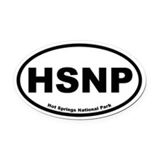 Hot Springs National Park Oval Car Magnet