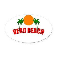 Cute Vero beach Oval Car Magnet