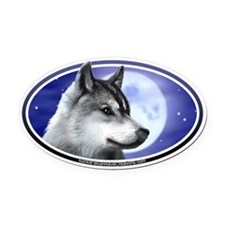 Wolf Moon I car bumper Oval Car Magnet decal (Oval