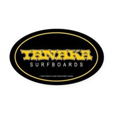 New 60's Tanaka Surfboards Oval Car Magnet