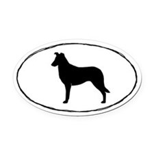 Smooth Collie Oval Car Magnetilhouette Oval Car Ma