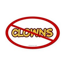 Anti Clown Oval Car Magnet