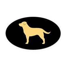 Yellow Lab Oval Car Magnet